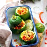 Courgettes farçies au hâchis végétal, recette facile pour journées marathons