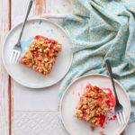 Carrés healthy-gourmands aux fraises et au cream cheese végétal