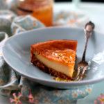 Cheesecake végétal au miel et à la fleur d'oranger – Basique & facile, sans noix de cajou ni trempage !